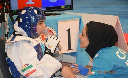 بانوی تکواندو کار سمنانی برای کسب مدال در مسابقات جهانی مصر