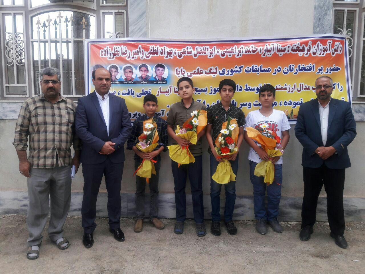 کسب مدال طلای مسابقات کشور برای دانش آموز گنابادی