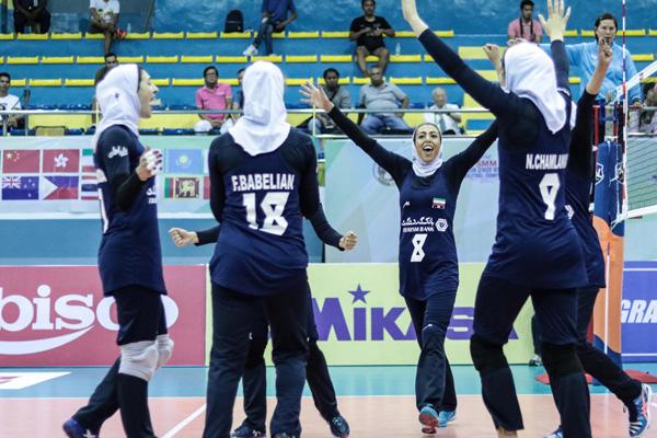 عملکرد دختران ایران در مرحله گروهی به روایت تصویر