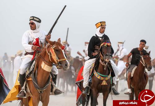 تصاویر روز: از ورود مرکل به زندان سیاسی تا جشنواره اسبهای نژاد عربی