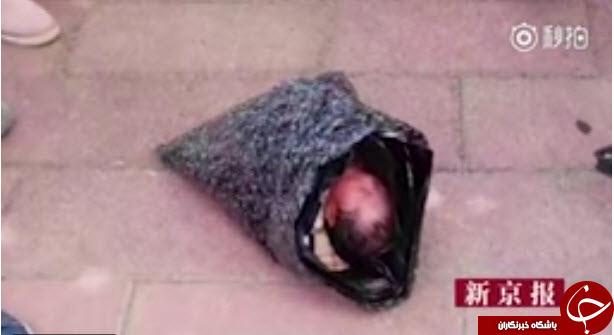 پیدا شدن نوزاد چینی در یک بسته پستی +تصاویر