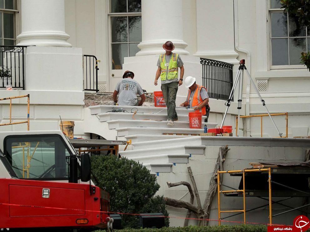 بازسازی کاخ سفید به روایت تصاویر