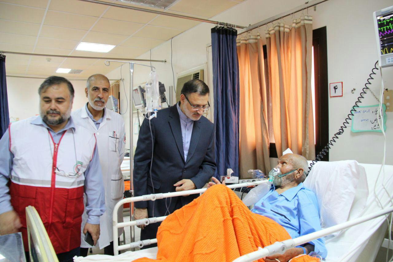 بازدید رییس سازمان حج و زیارت از بیمارستان مکه مکرمه