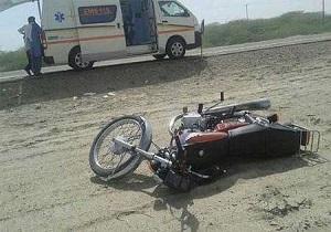مرگ راکب موتورسیکلت دربرخورد باکامیون