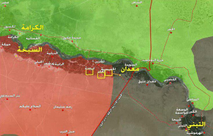آزادسازی ۱۰۰ کیلومتر مربع در جنوبشرقی سوریه