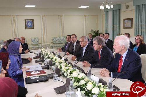 دیدار سه سناتور ارشد آمریکایی با سرکرده منافقین در  آلبانی