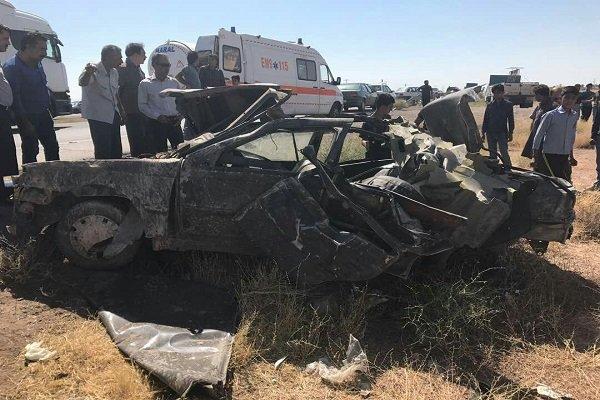 ۲ کشته بر اثر واژگونی خودروی حامل اتباع افغانستانی در رفسنجان