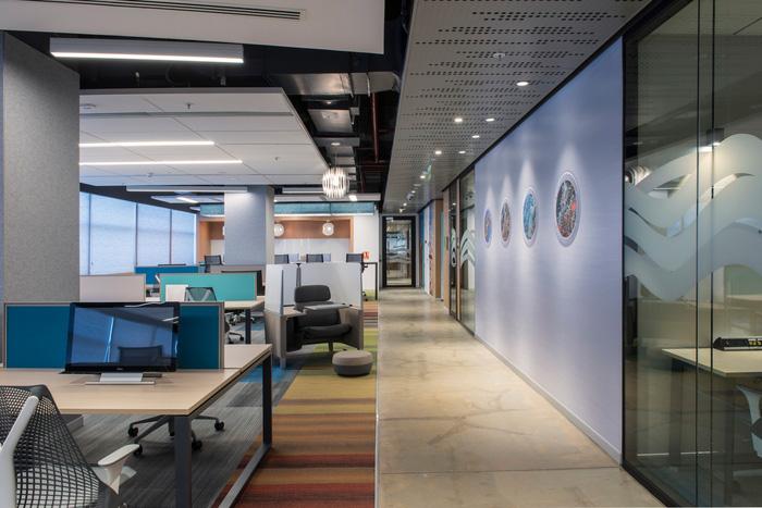 طراحی داخلی زیبای ساختمان مایکروسافت در هند + تصاویر
