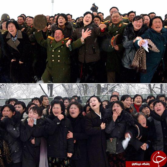 گریه کنهای رئیس جمهور کره شمالی +تصاویر