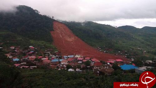 کشف 270 جنازه در رانش زمین سیرالئون+ تصاویر