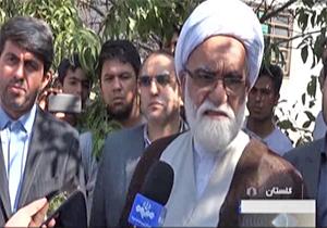 بازدید نماینده ولی فقیه از مناطق سیل زده استان گلستان + فیلم