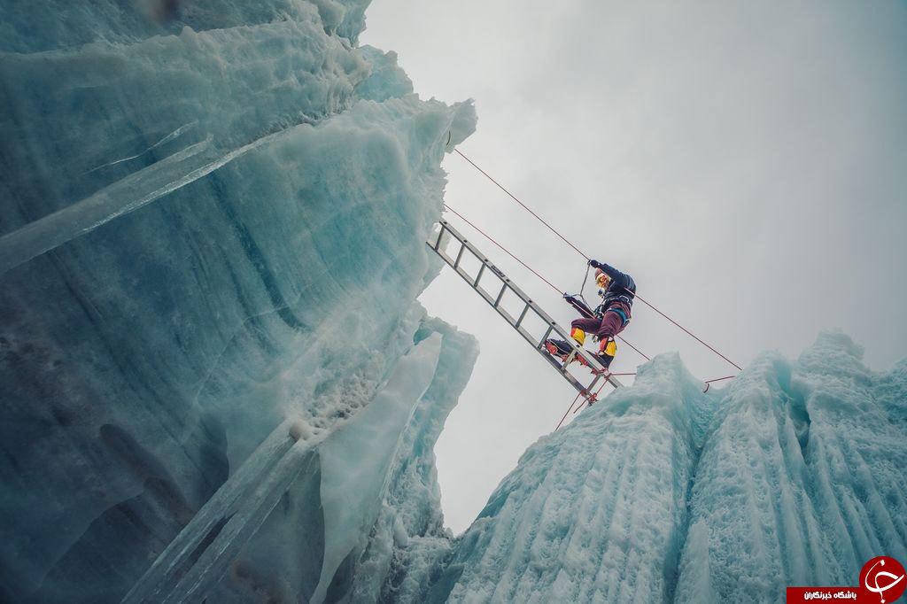 عکس روز نشنال جئوگرافیک از عبور مرگبار یک کوهنورد