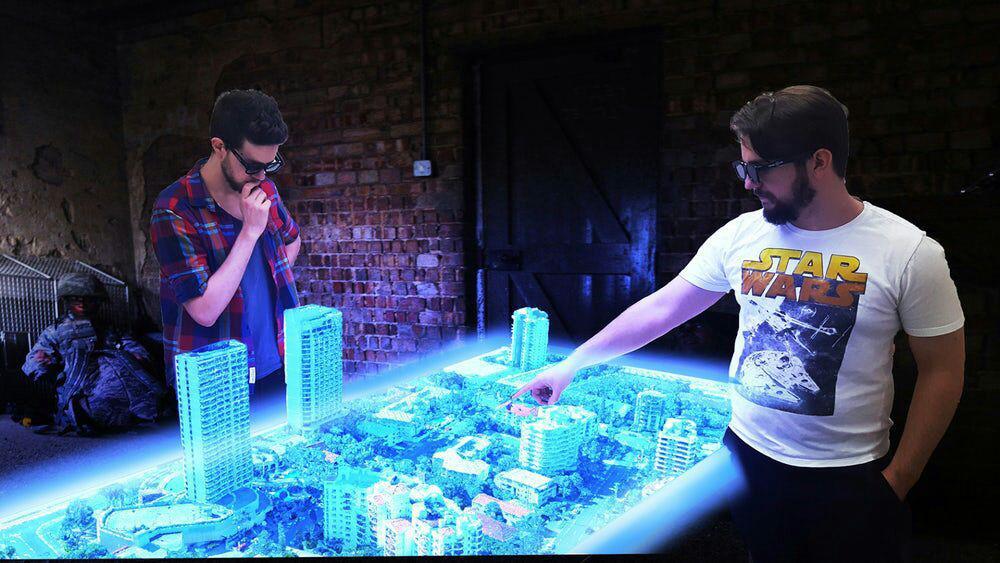 اولین میز هولوگرام جهان ساخته میشود+تصاویر