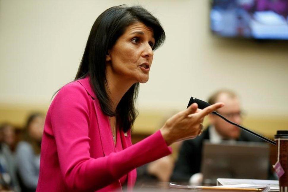 نیکی هیلی: تحریم های آمریکا ارتباطی به برجام ندارد!