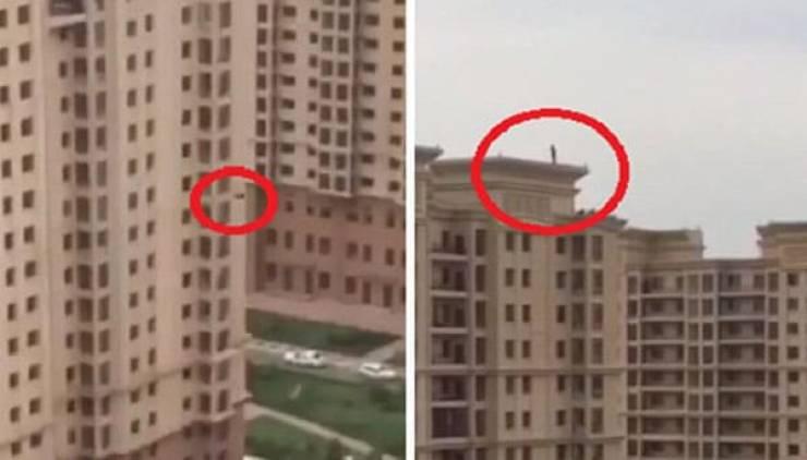 خوشحالی مرد سعودی از تماشای خودکشی همسایه خود+فیلم