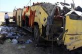 واژگونی اتوبوس در شاهرود ۳۸ کشته و مصدوم برجای گذاشت