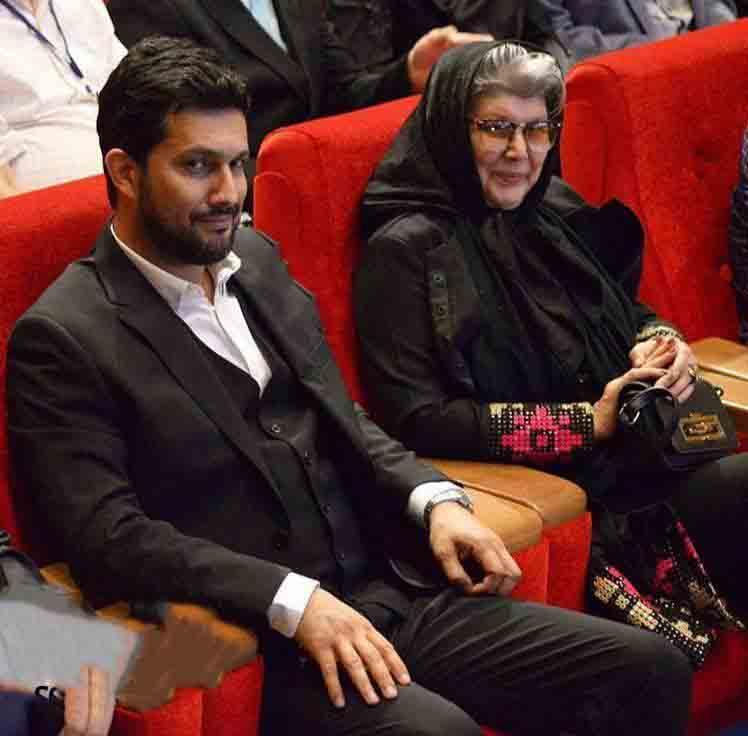 حامد بهداد و مادرش +عکس