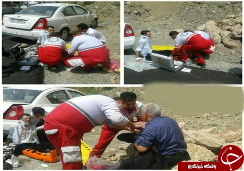 سانحه رانندگی شدید در قائم شهر + تصاویر
