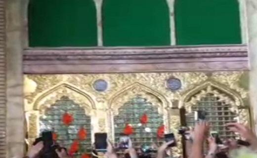 رونمایی از پنجره فولاد حرم حضرت معصومه(س) + فیلم
