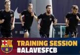 تمرین تیم بارسلونا بعد از اولین برد + فیلم
