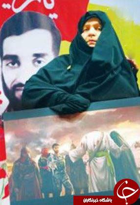 حرف های گریه دار مادر شهید حججی + عکس