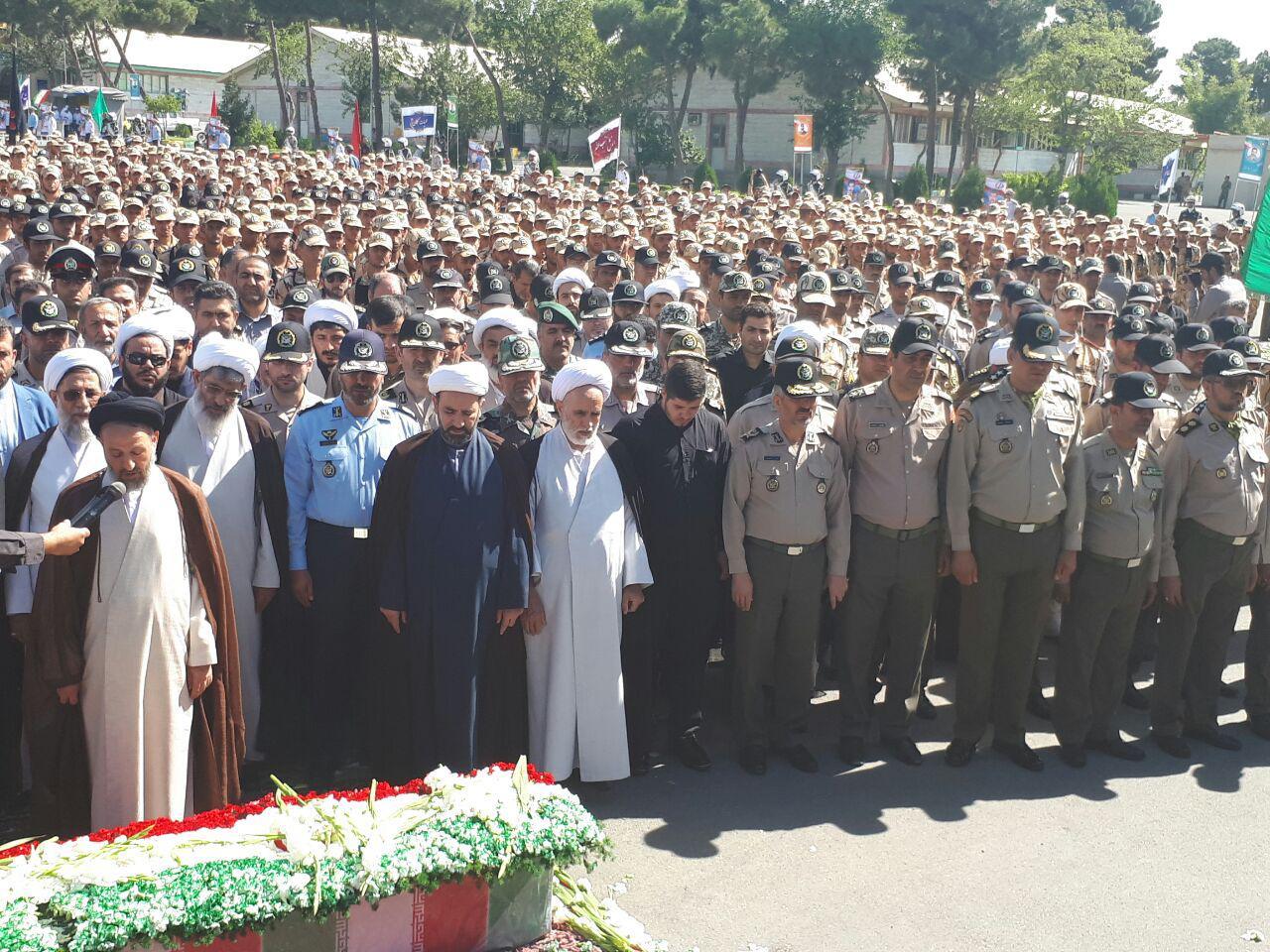 مراسم تشییع پیکر شهید گمنام دفاع مقدس برگزار شد
