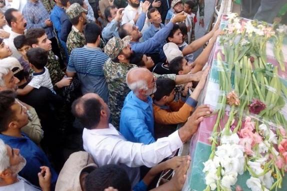 باشگاه خبرنگاران - مراسم استقبال از شهید اندرواژ در آبدان برگزار شد