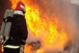 باشگاه خبرنگاران -آتش سوزی در پمپ بنزین بخش پارود +عکس