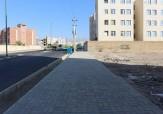 باشگاه خبرنگاران - نصب کفپوش پیاده رو در بلوار مدرس
