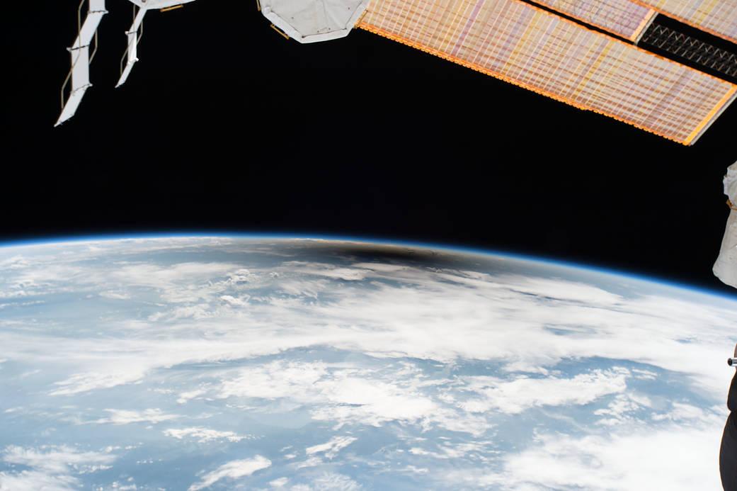 خورشیدگرفتگی آمریکا از دید ساکنان ایستگاه بینالمللی فضایی