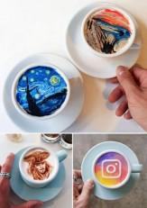 باشگاه خبرنگاران -هنرمند نقاشی روی قهوه +تصاویر
