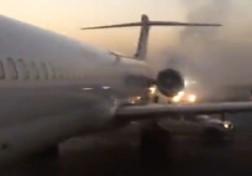 باشگاه خبرنگاران - آتش گرفتن هواپیما هنگام بلند شدن از فرودگاه اهواز + فیلم