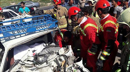 باشگاه خبرنگاران -تصادف مرگبار در جاده ورامین/ راننده خودرو وانت جان باخت