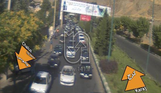 ترافیک در محور کرج-چالوس سنگین است