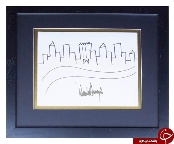 نقاشی بچگانه ترامپ به فروش رفت