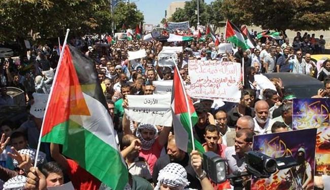 تظاهرات مردم اردن در حمایت از مسجدالاقصی