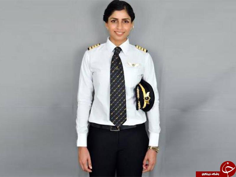 یک زن هندی، جوانترین خلبان زن بوئینگ ۷۷۷ در جهان شد+ عکس