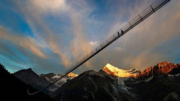 افتتاح طولانی ترین پل معلق در سوئیس