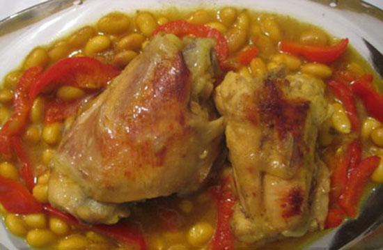 خورش عربی فاصولیا، یا همان خوراک مرغ و لوبیا سفید خودمان