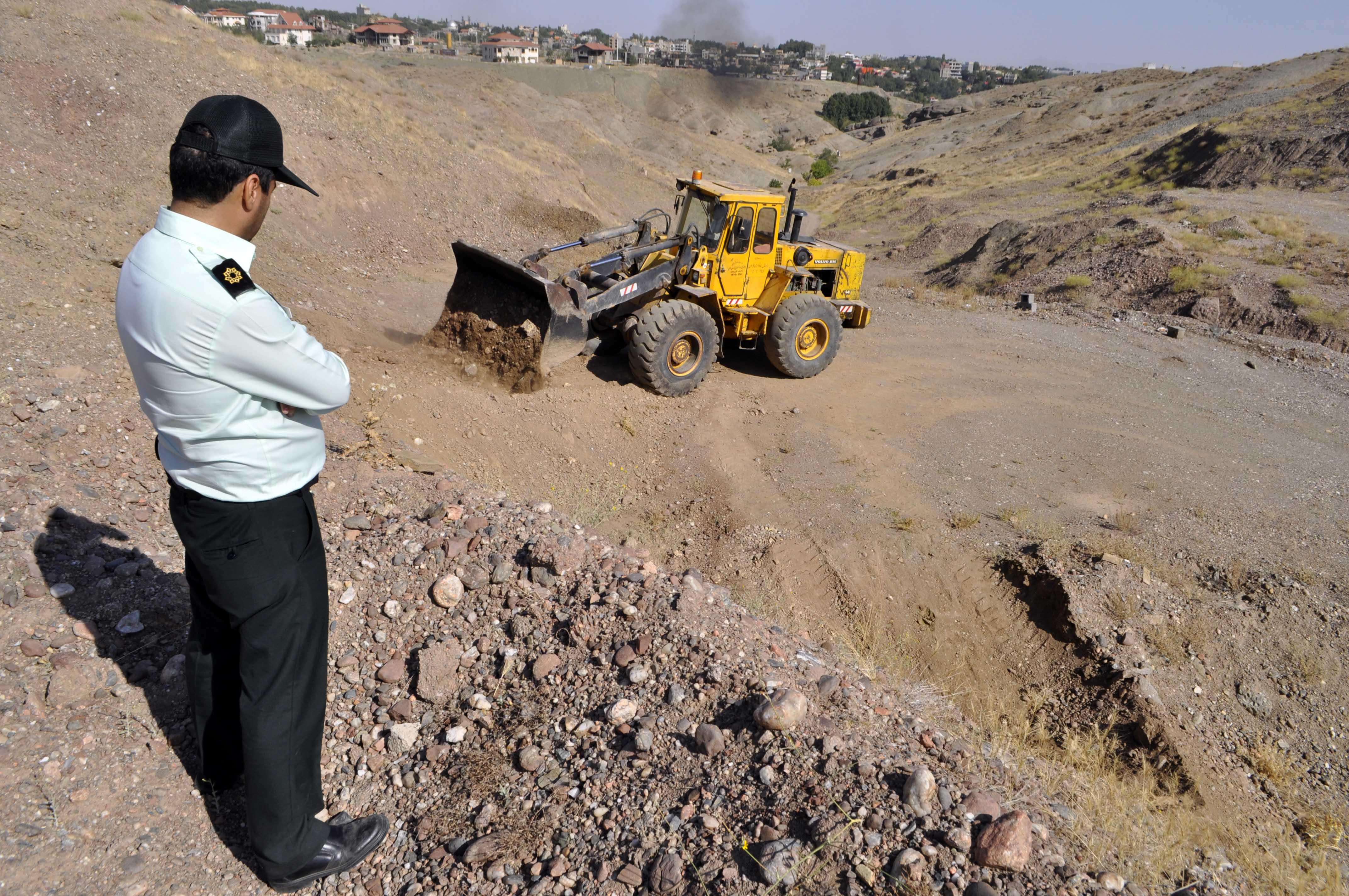 رفع تصرف ۷۸ هزار مترمربع از اراضی ملی در شهرستان طرقبه شاندیز