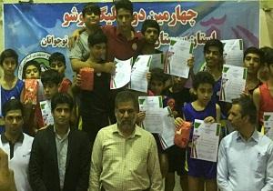 خاش قهرمان چهارمین دوره رقابت های لیگ ووشو سیستان وبلوچستان شد