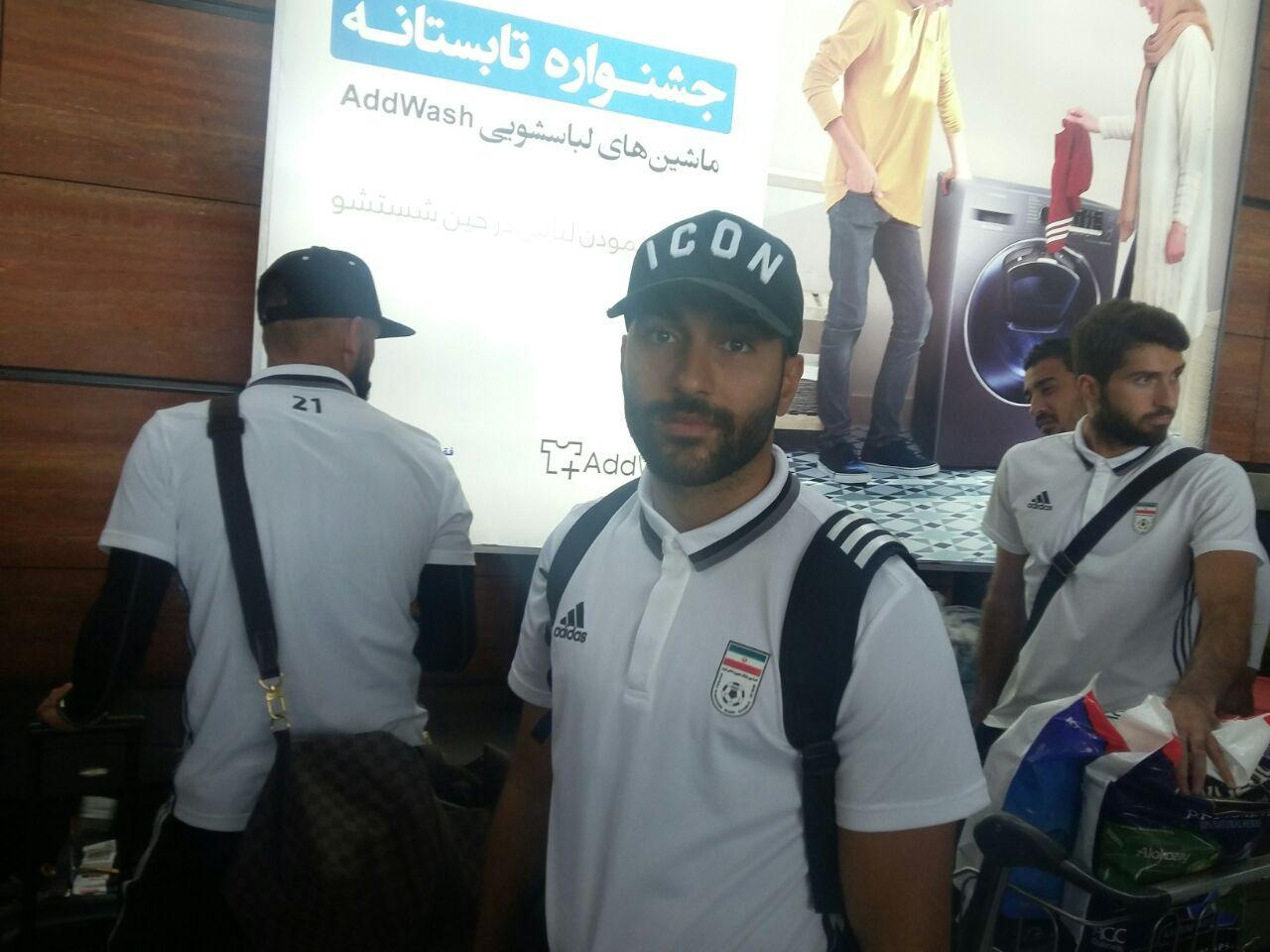 تیم ملی فوتبال به ایران بازگشت + تصاویر
