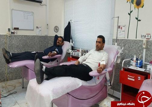 اهدای خون کارکنان بهزیستی بیرجند+تصاویر