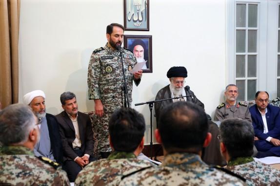 فرماندهان قرارگاه پدافند هوایی خاتمالانبیاء(ص) ارتش با فرمانده کل قوا دیدار کردند