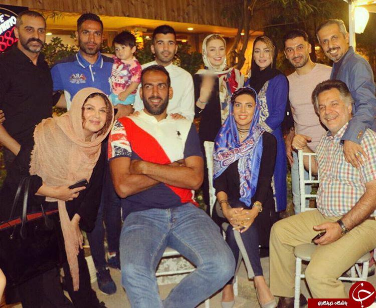 ستاره پرسپولیس در افتتاح کافه+عکس