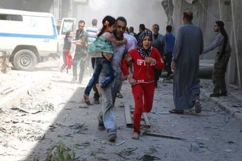 زمینه سازی تروریستها برای عملیات آمریکا در سوریه + فیلم
