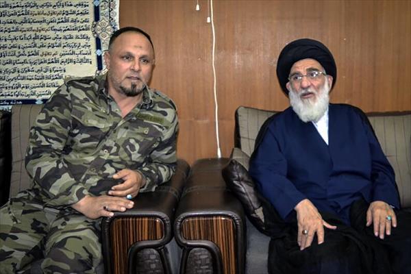 آیت الله هاشمی شاهرودی از مقر نُجَباء در عراق بازدید کرد