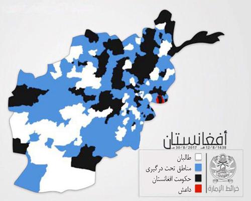 چه مناطقی در افغانستان تحت کنترل طالبان قرار دارد + نقشه