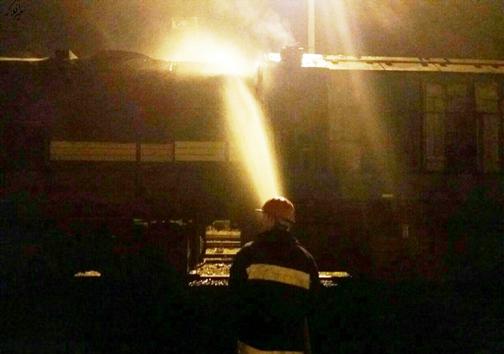 آتش گرفتن لوکوموتیو قطار باری در دورود +تصاویر