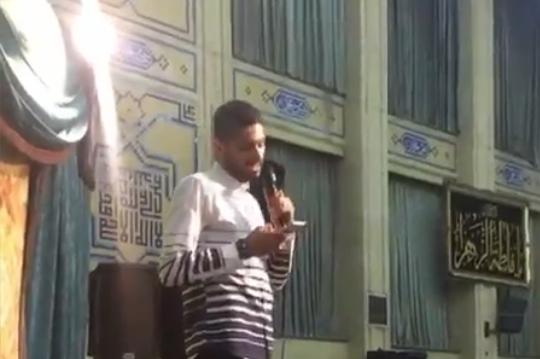 مداحی بازیکن پرسپوليس در کنار بزرگان مداحی در شب عید غدیر+فیلم